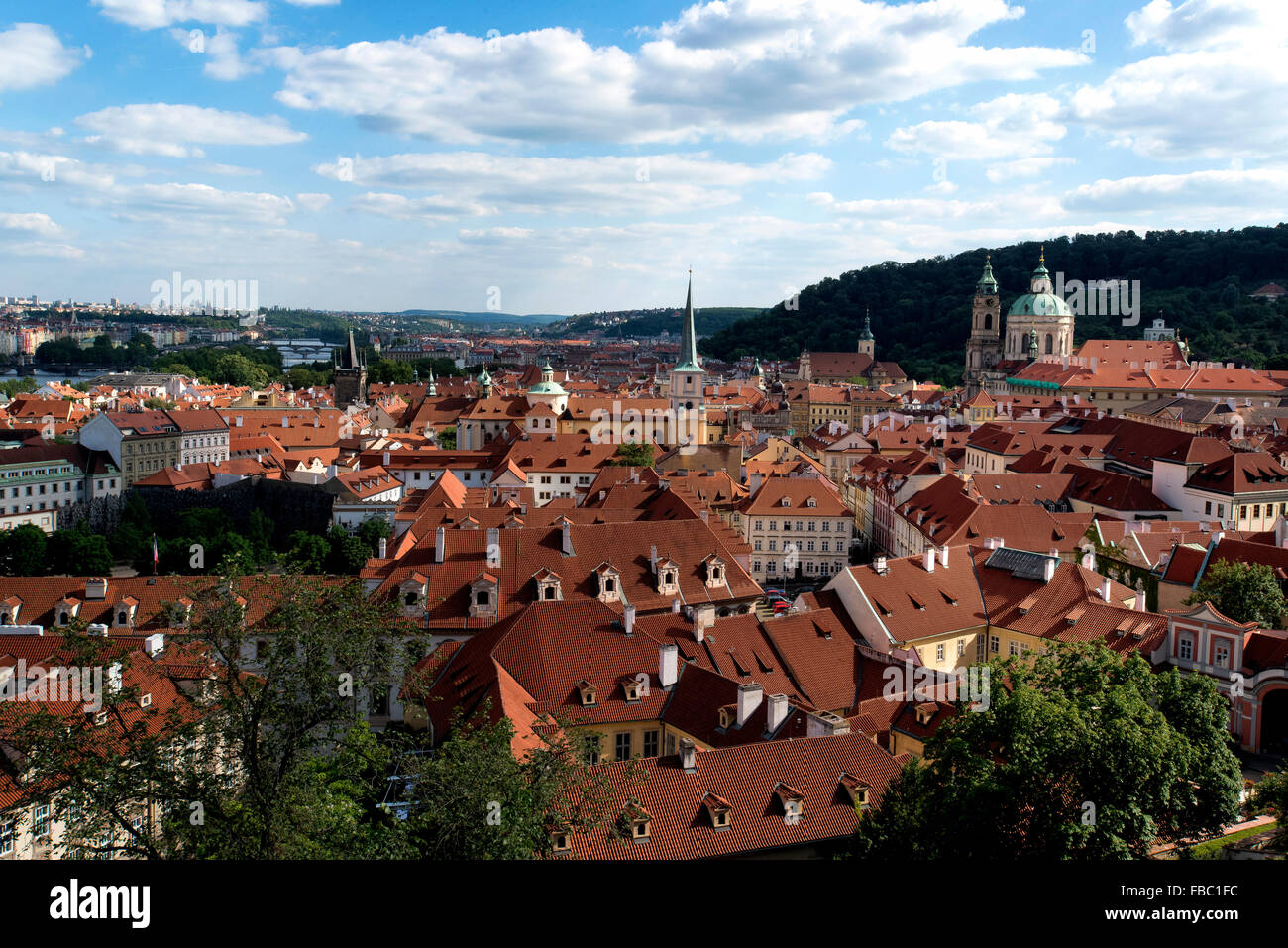 rooftops from Prague Castle, Czech Republic, - Stock Image