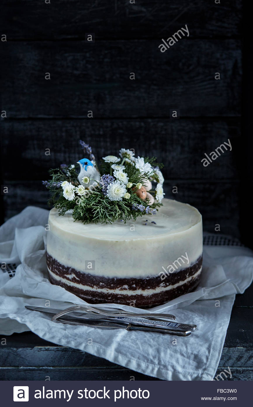 Easter biscuit chocolate cake - Stock Image
