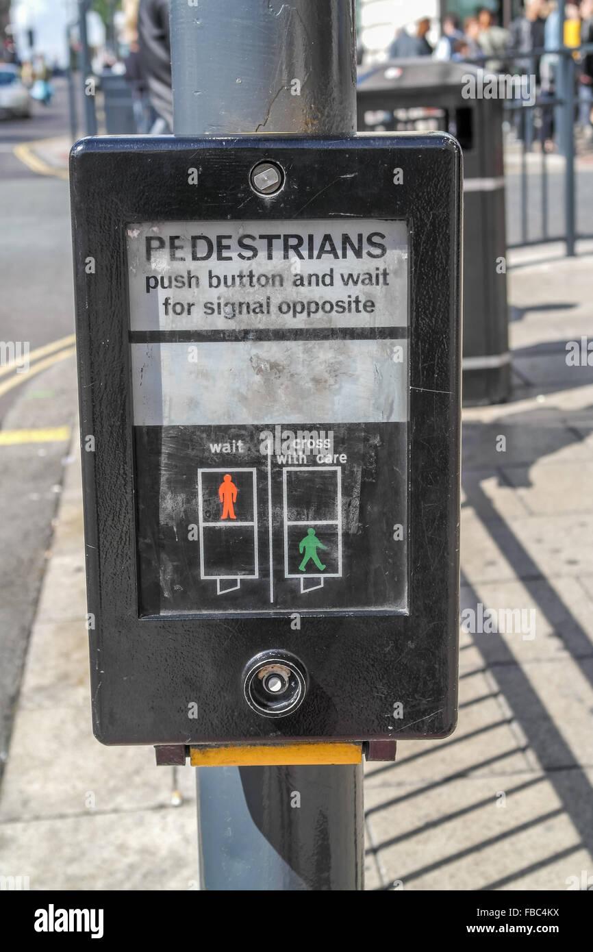A pedestrian crossing control box Stock Photo: 93080174 - Alamy