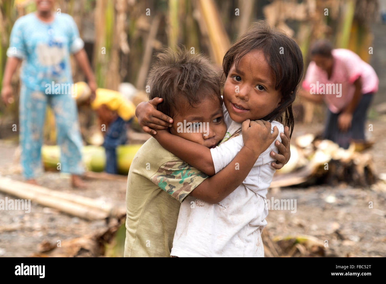 children in Ende, Flores, Indonesia, Asia Stock Photo