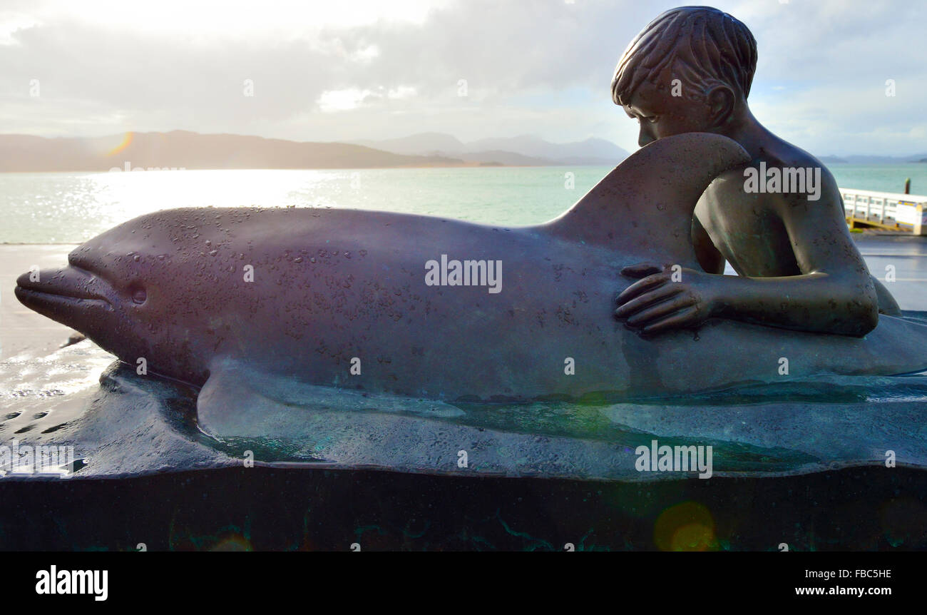 Opo was a bottlenose dolphin who became famous throughout New Zealand during the summer of 1955/56 for playing with - Stock Image