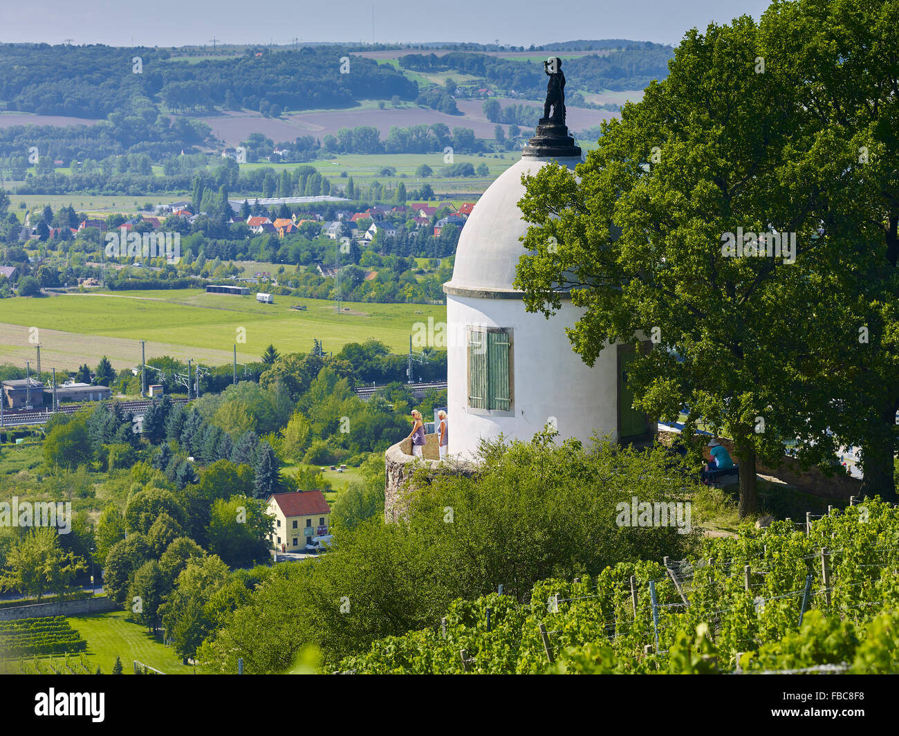 Tower on the Jacob Stein, Radebeul, Saxony, Germany - Stock Image
