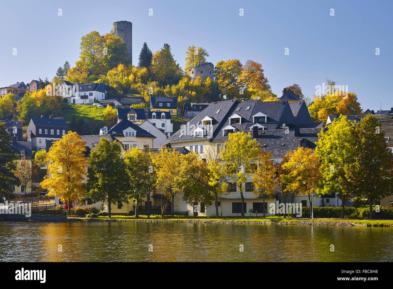 Castle in Bad Lobenstein, Thuringia, Germany - Stock Image
