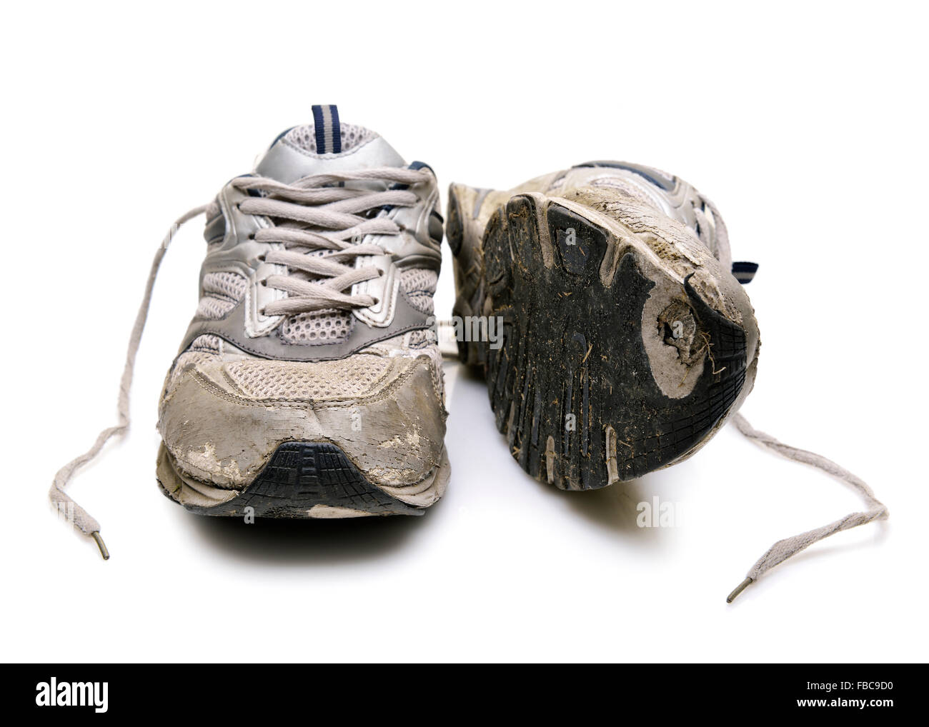 Old Trainers, Cut Out. - Stock Image