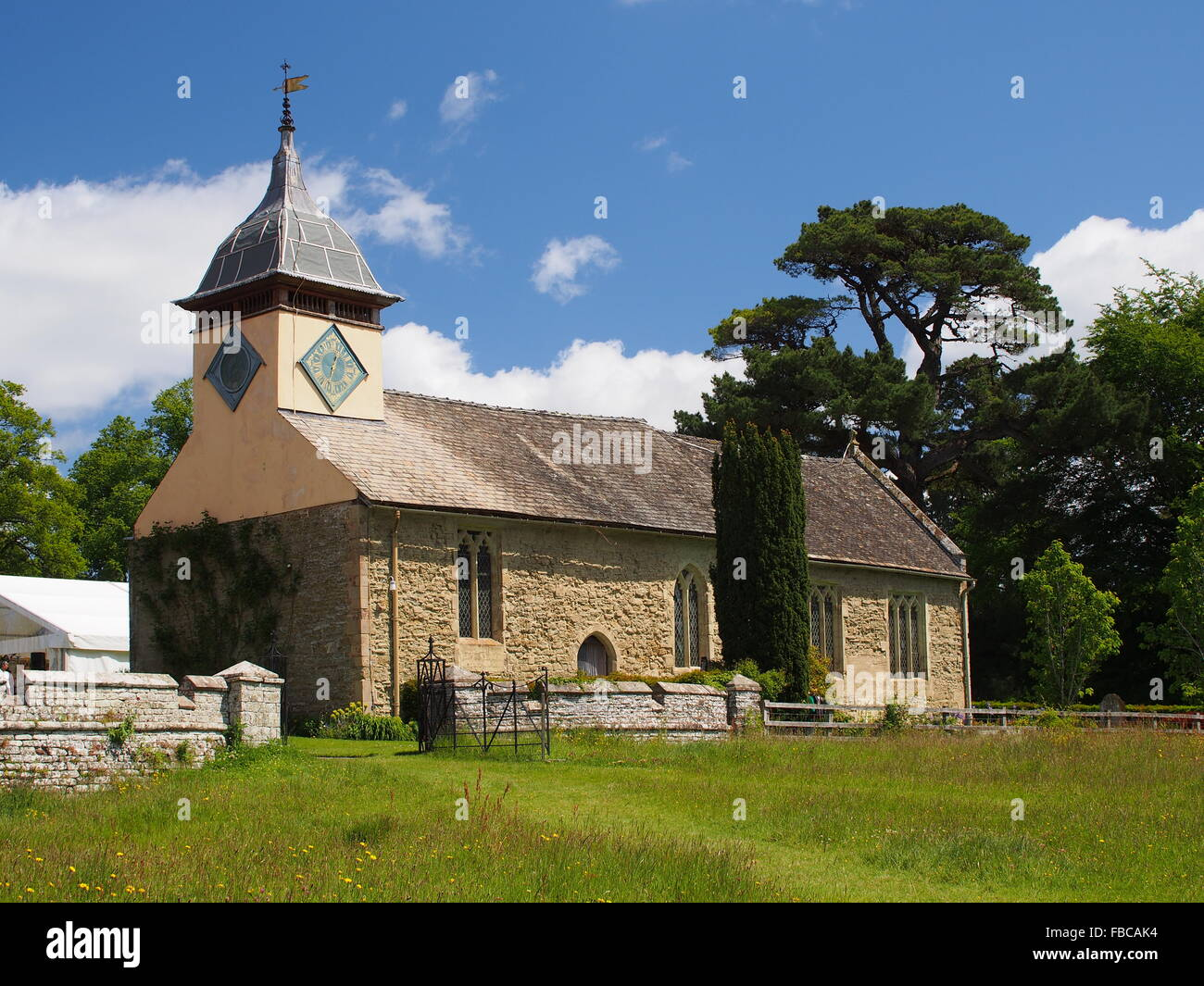 St. Michael's Church at Croft Castle - Stock Image
