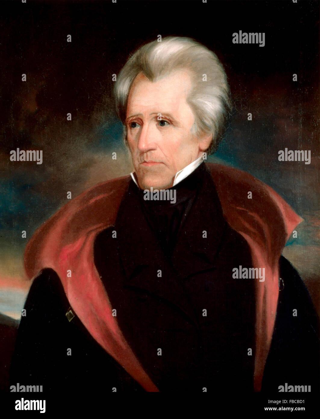 Andrew Jackson. Portrait of the 7th US President by Ralph Eleazer Whiteside Earl - Stock Image