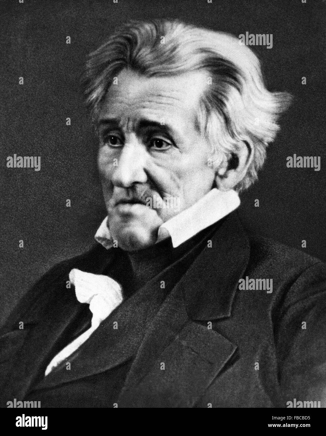 Andrew Jackson. Daguerrotype of the 7th US President, 1845 - Stock Image