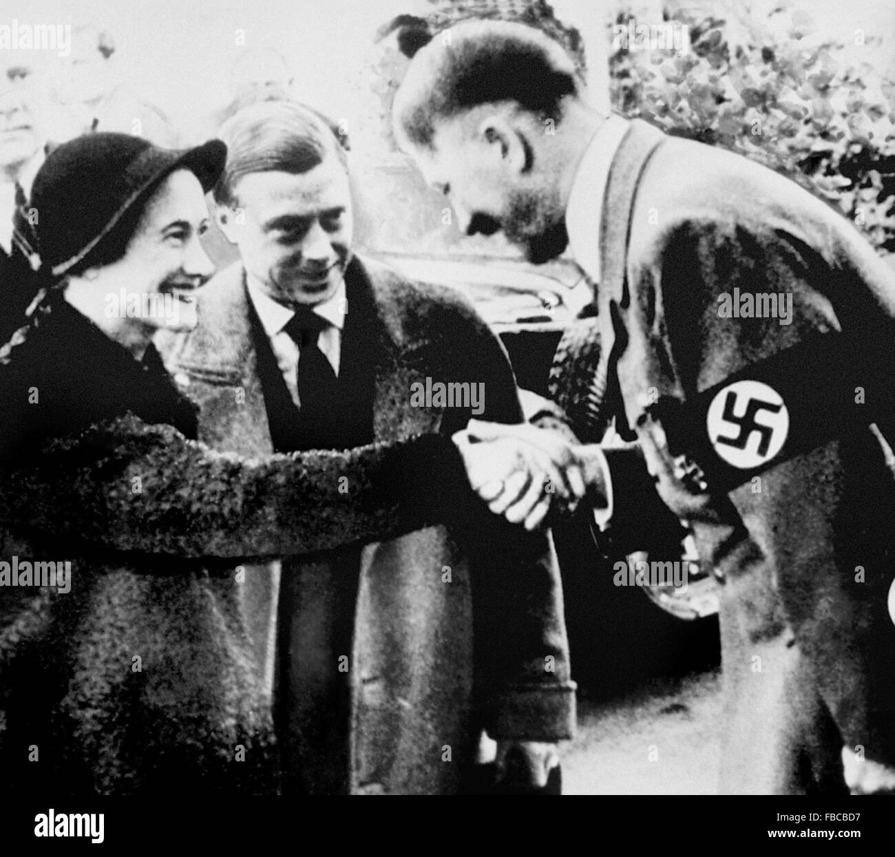 The Duke and Duchess of Windsor meeting Adolf Hitler in Munich in 1937 - Stock Image