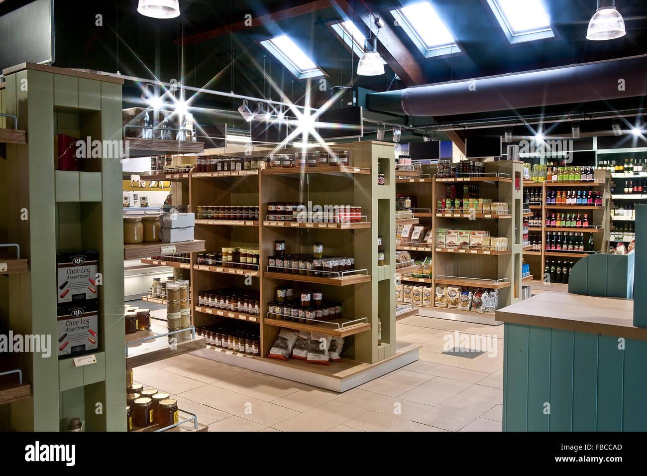 Interior of a Farm Shop Stock Photo