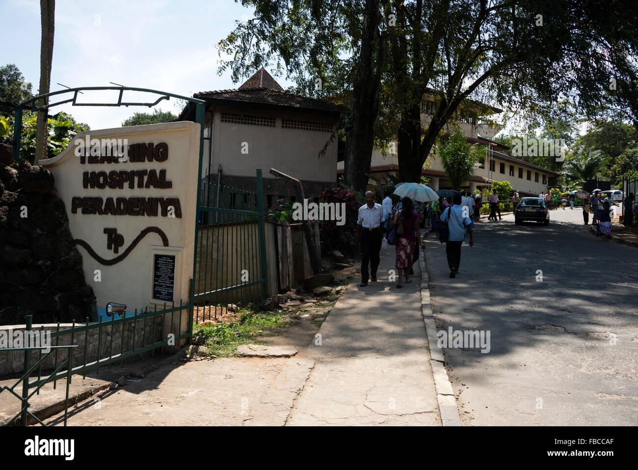 Main entrance to the Teaching Hospital Peradeniya in Kandy, Sri Lanka - Stock Image