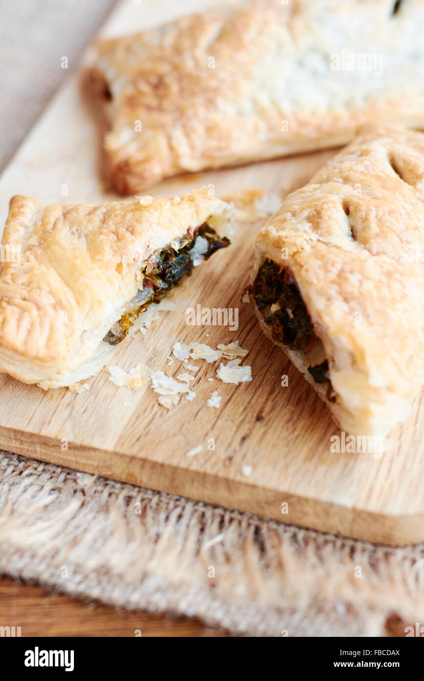 Kale and Lemon Pockets - Stock Image
