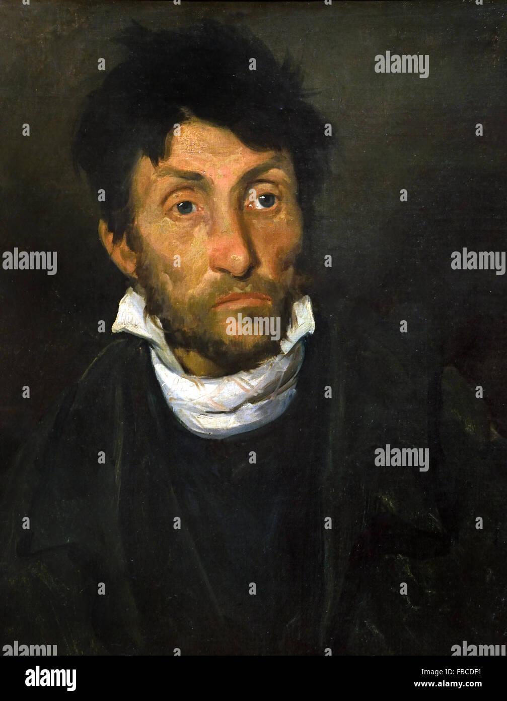 Portrait of a Kleptomaniac 1820 - 1824 Jean Louis André Théodore Géricault 1791 – 1824 French France - Stock Image