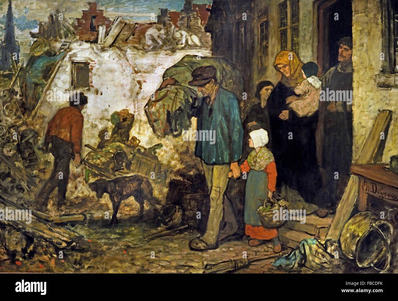 The Expulsion by Charles de Groux 1825-1870 Flemish Belgian Belgium - Stock Image