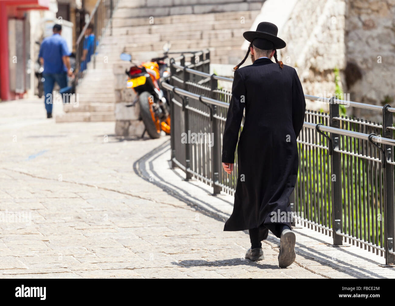 Orthodox male Jew in Jerusalem Israel - Stock Image