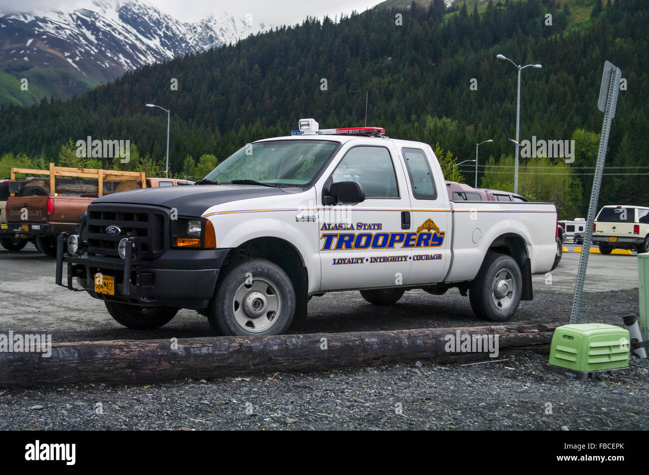Ford Pickup Truck Stock Photos Images Alamy 1955 F250 4x4 Alaska State Troopers Xl Super Duty Image