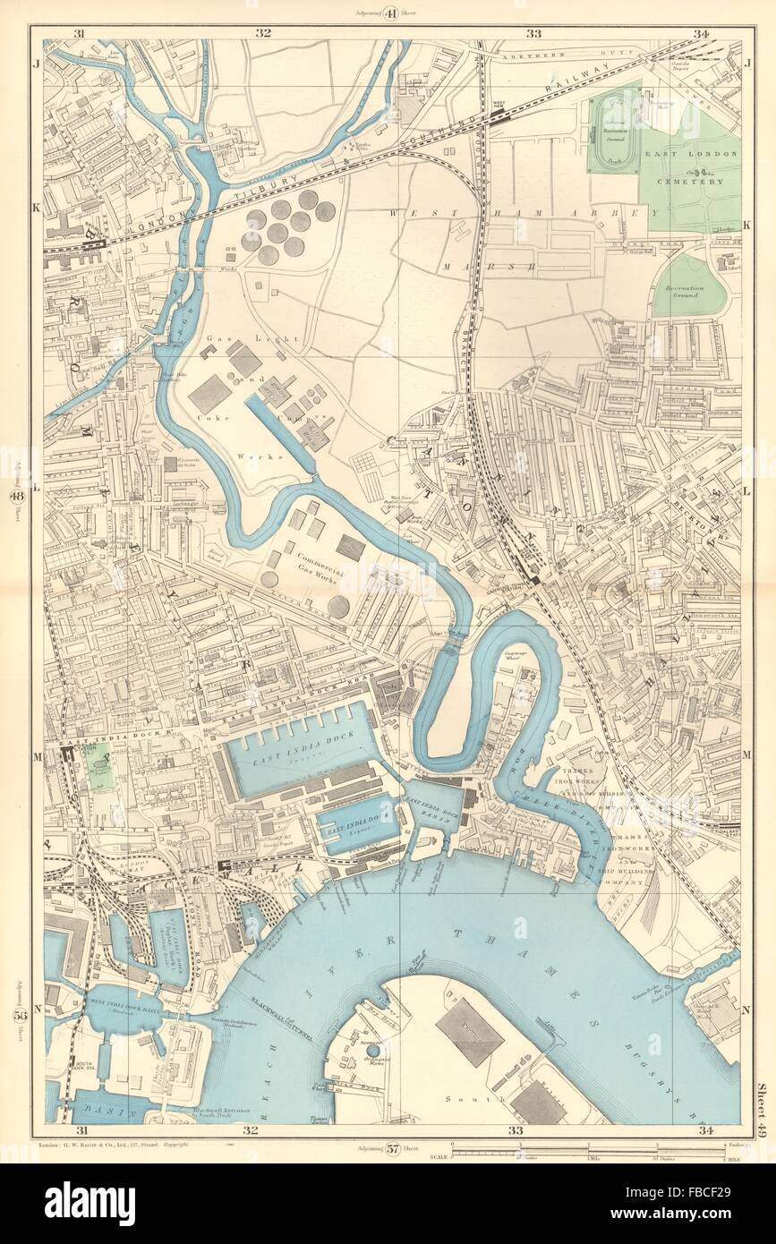River Lea Map CANNING TOWN Bromley Blackwall Bow Creek River Lea West Ham  River Lea Map