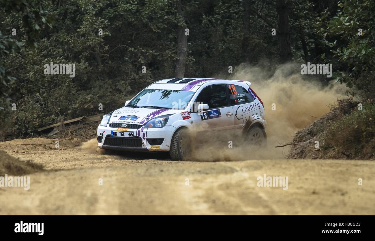 Turgay Ozdemir Ford Fiesta St Stock Photos 2015 With In Kocaeli Rally Image