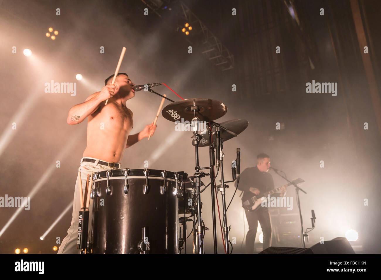 London, UK, 14th Jan 2016. Slaves Live Performance at o2 Kentish Town Forum. © Robert Stainforth/Alamy Stock Photo