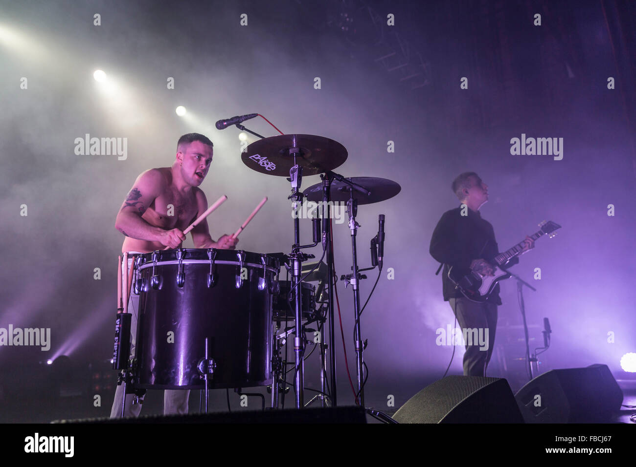 London, UK, 14th Jan 2016. Slaves Live Performance at o2 Kentish Town Forum. © Robert Stainforth/Alamy Stock Photo