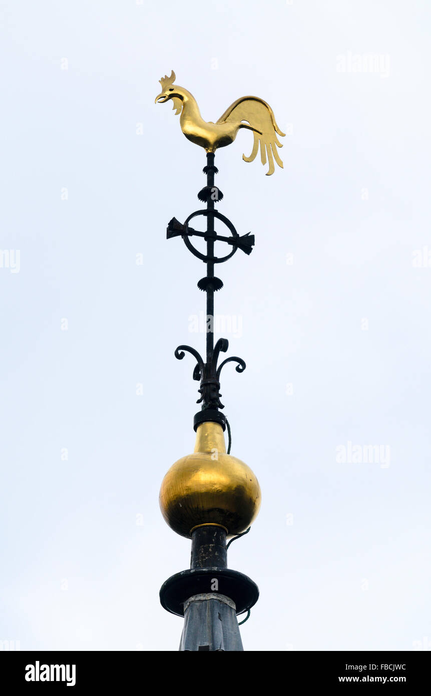 The Weather Vane at the top of the church tower of St Mary's Wendover, Buckinghamshire, England, United Kingdom. Stock Photo