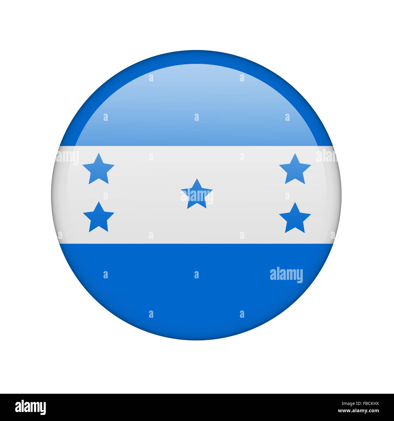 The Honduran flag Stock Photo