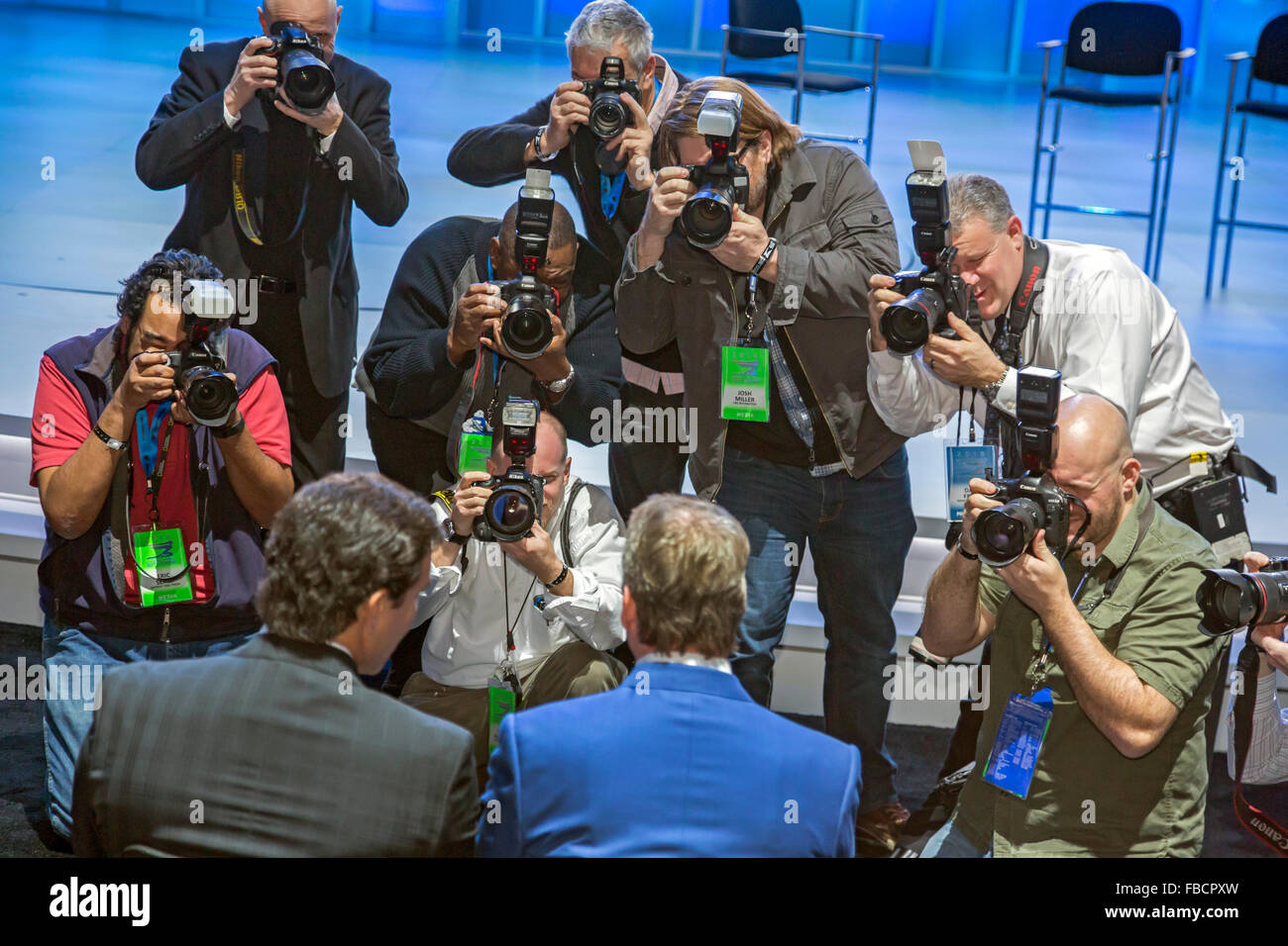 Detroit, Michigan - Photographers photograph Ford Motor Company executives at the North American International Auto - Stock Image