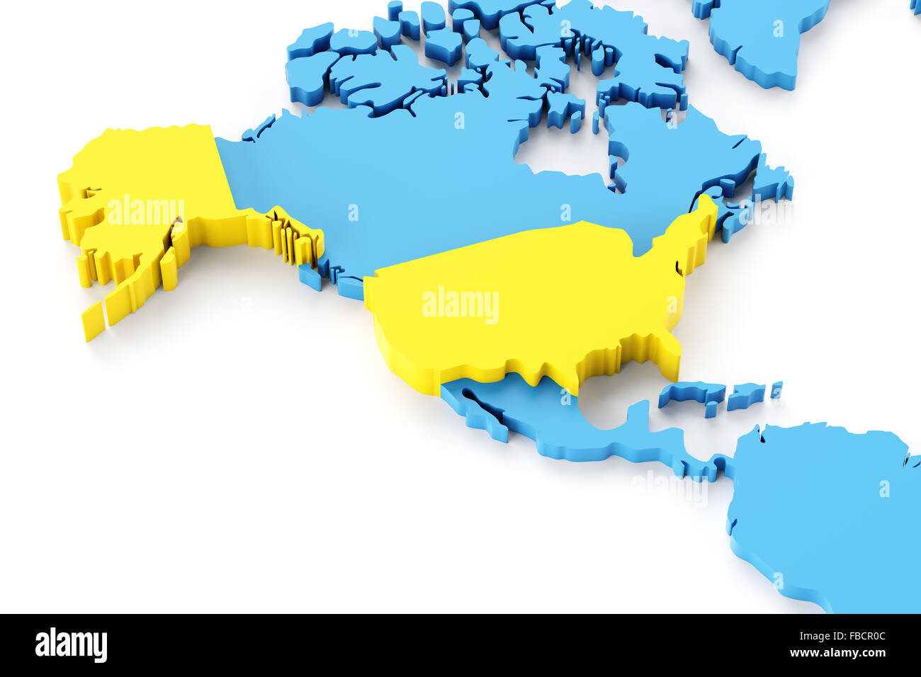 North american map stock photos north american map stock images map of north america with usa highlighted stock image gumiabroncs Images