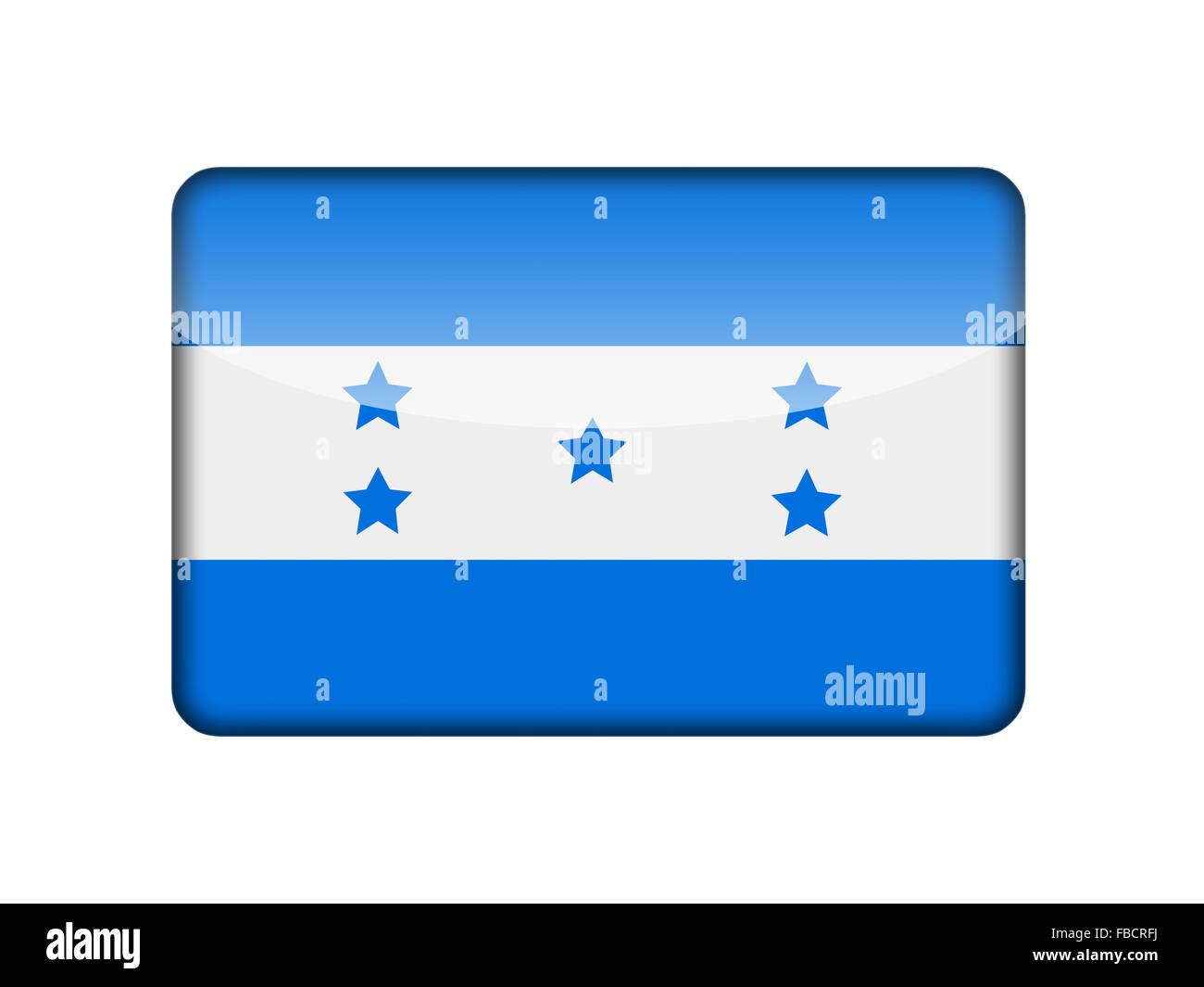 The Honduran flag Stock Photo