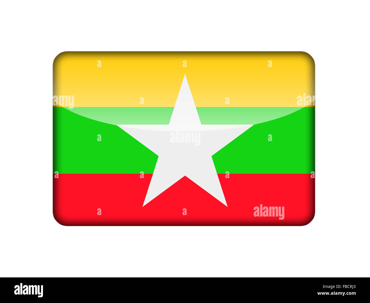 The Myanmar flag - Stock Image