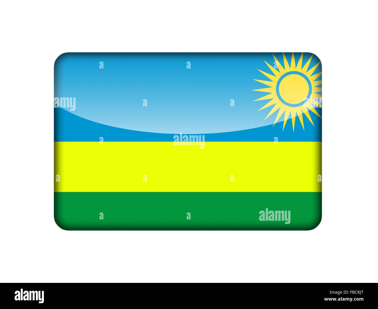 The Rwanda flag - Stock Image