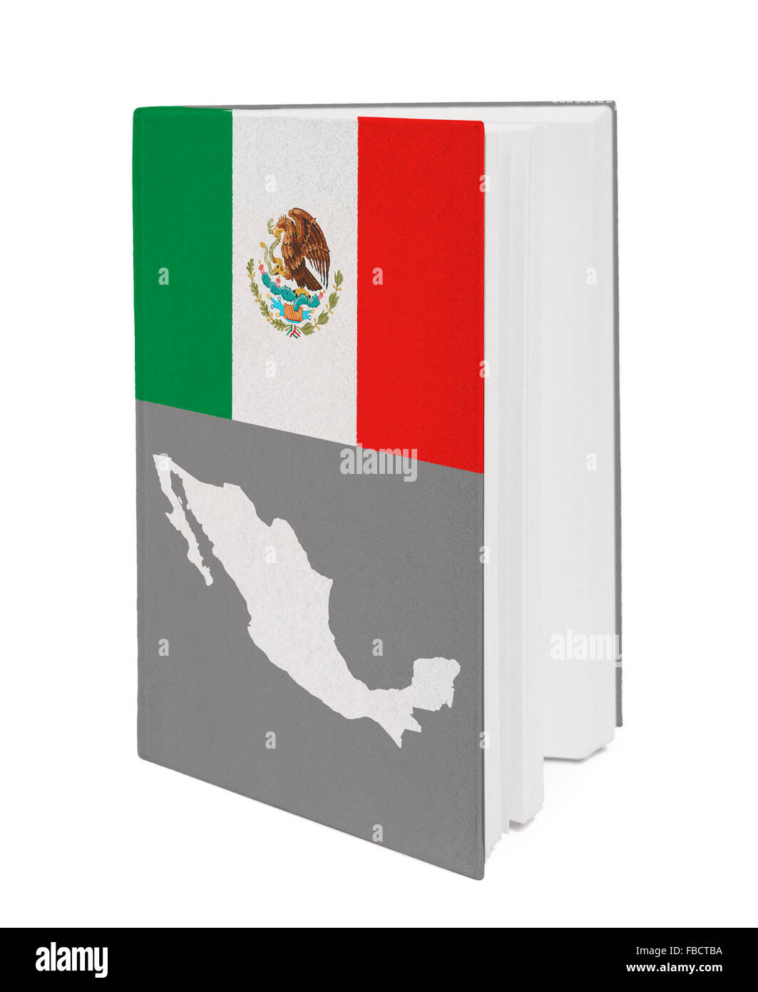 Concept. Book with the national flag - Stock Image