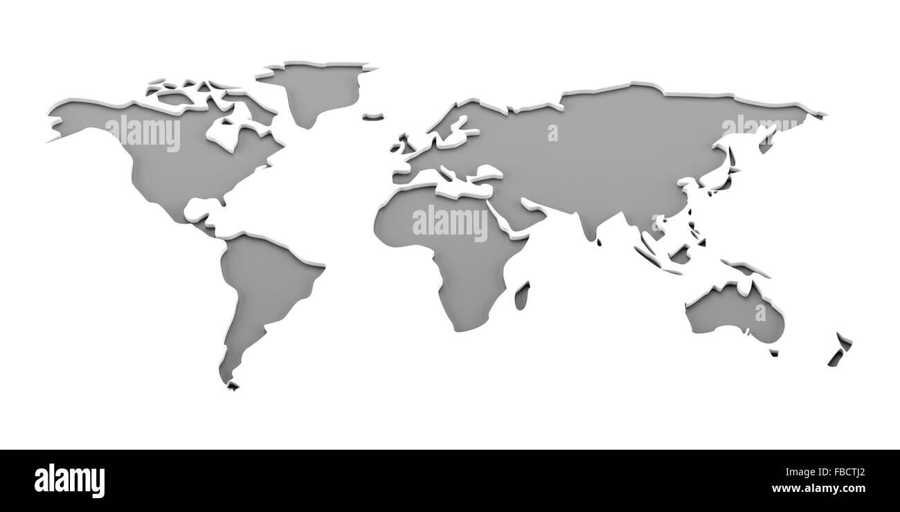 World map, 3d render Stock Photo: 93095802   Alamy