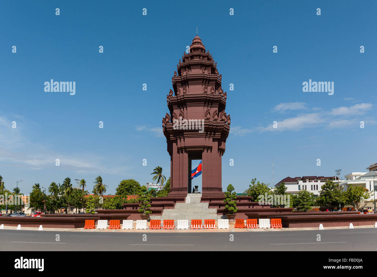 Roundabout at the Independence Monument, Phnom Penh, Cambodia - Stock Image