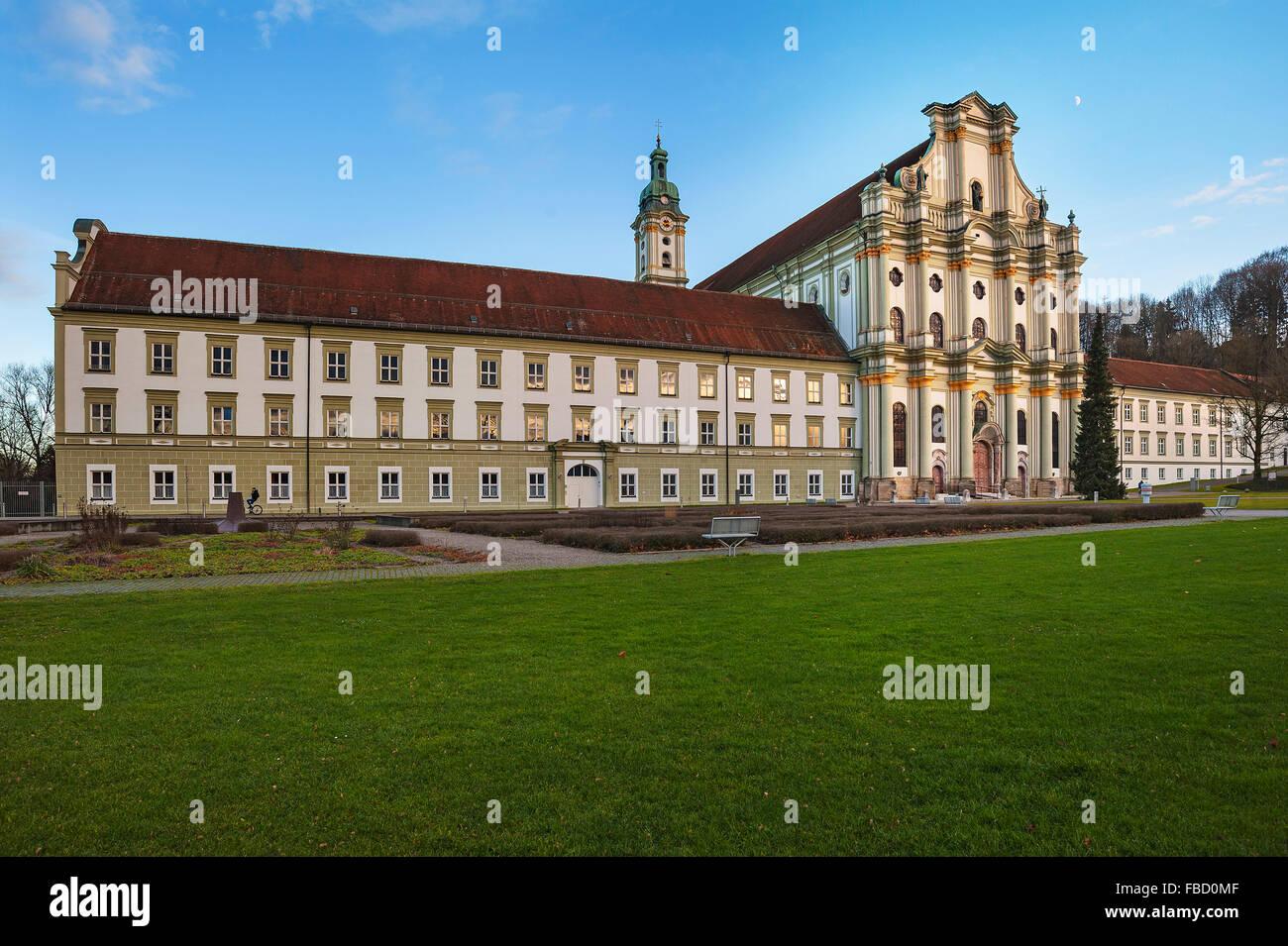 Fürstenfeld Abbey, former Cistercian abbey, Furstenfeldbruck, Bavaria, Germany Stock Photo