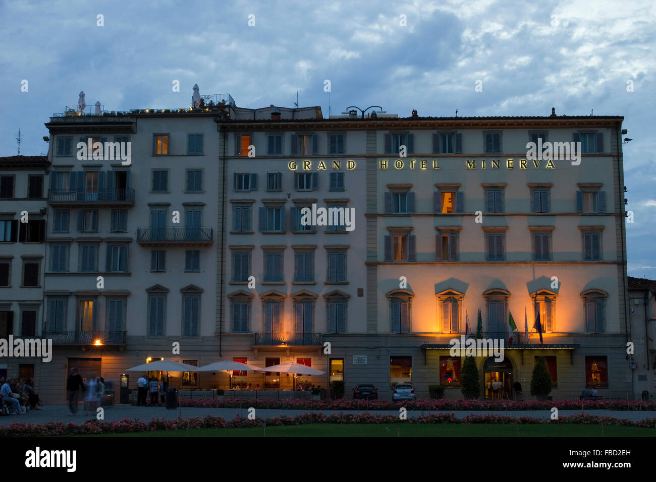 Grand Hotel Minerva in Florence, Italy. - Stock Image