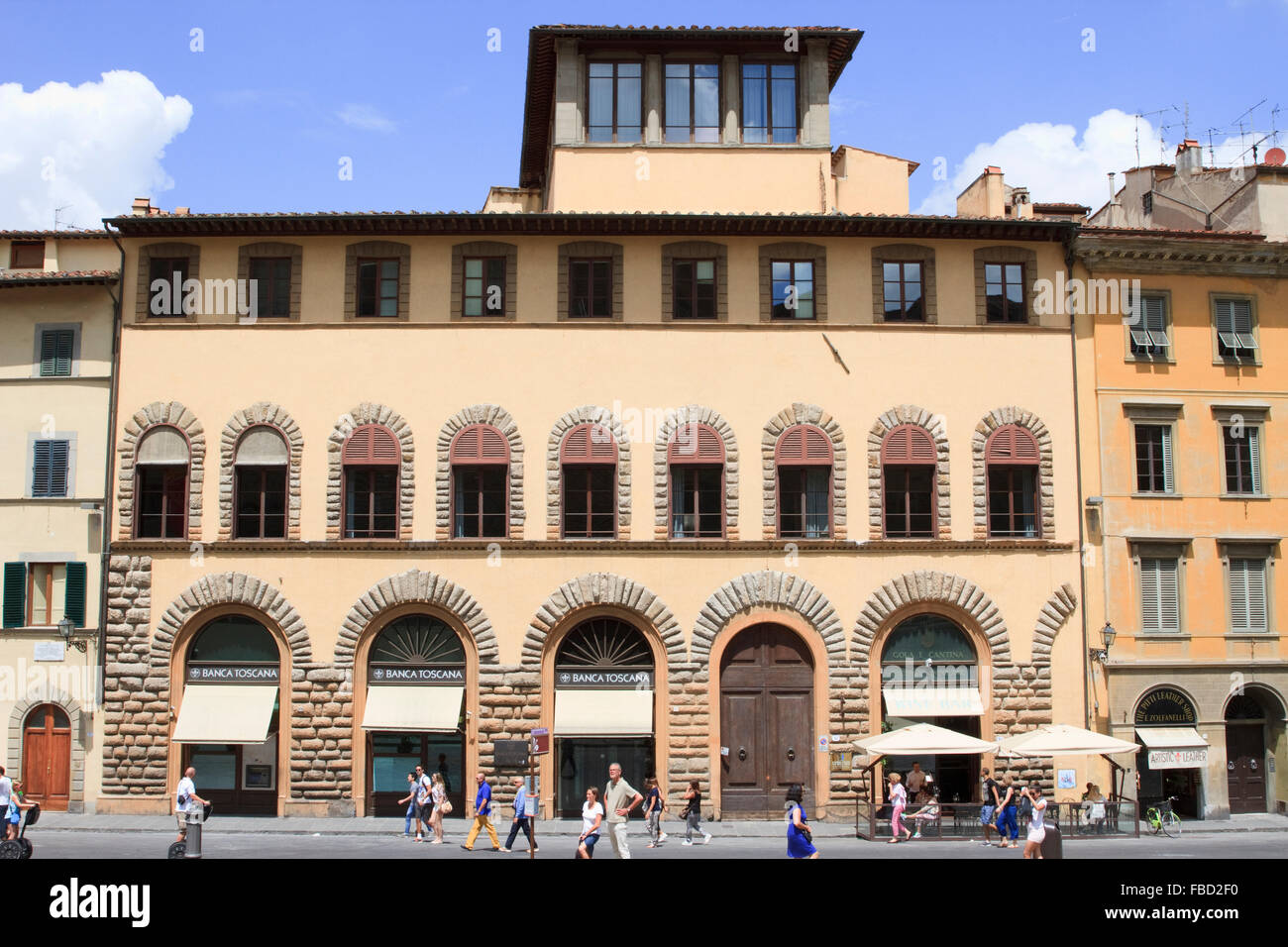 Piazza dei Pitti, Florence, Italy. - Stock Image