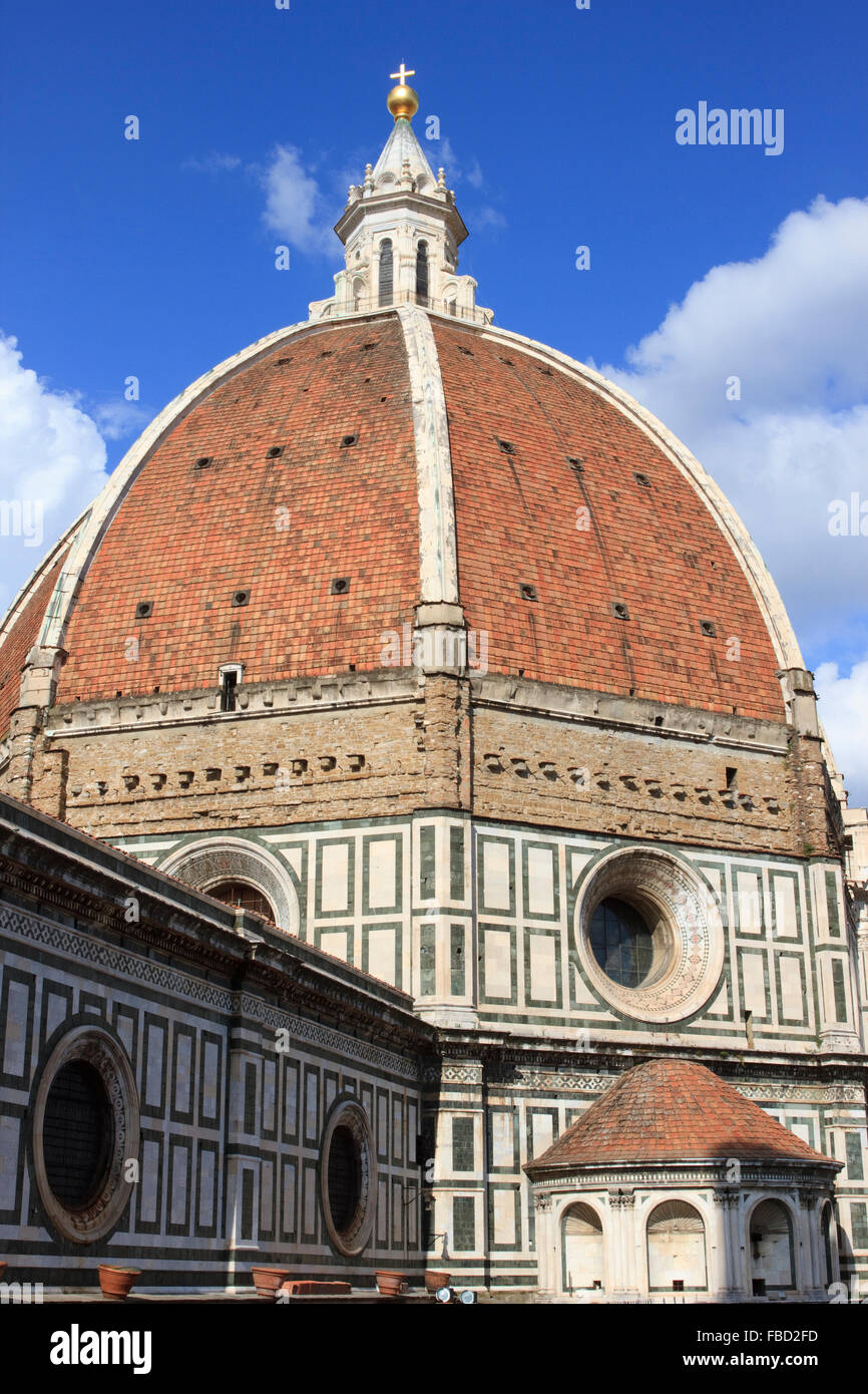 Florence Dome: Florence Duomo Brunelleschis Dome Cathedral Stock Photos