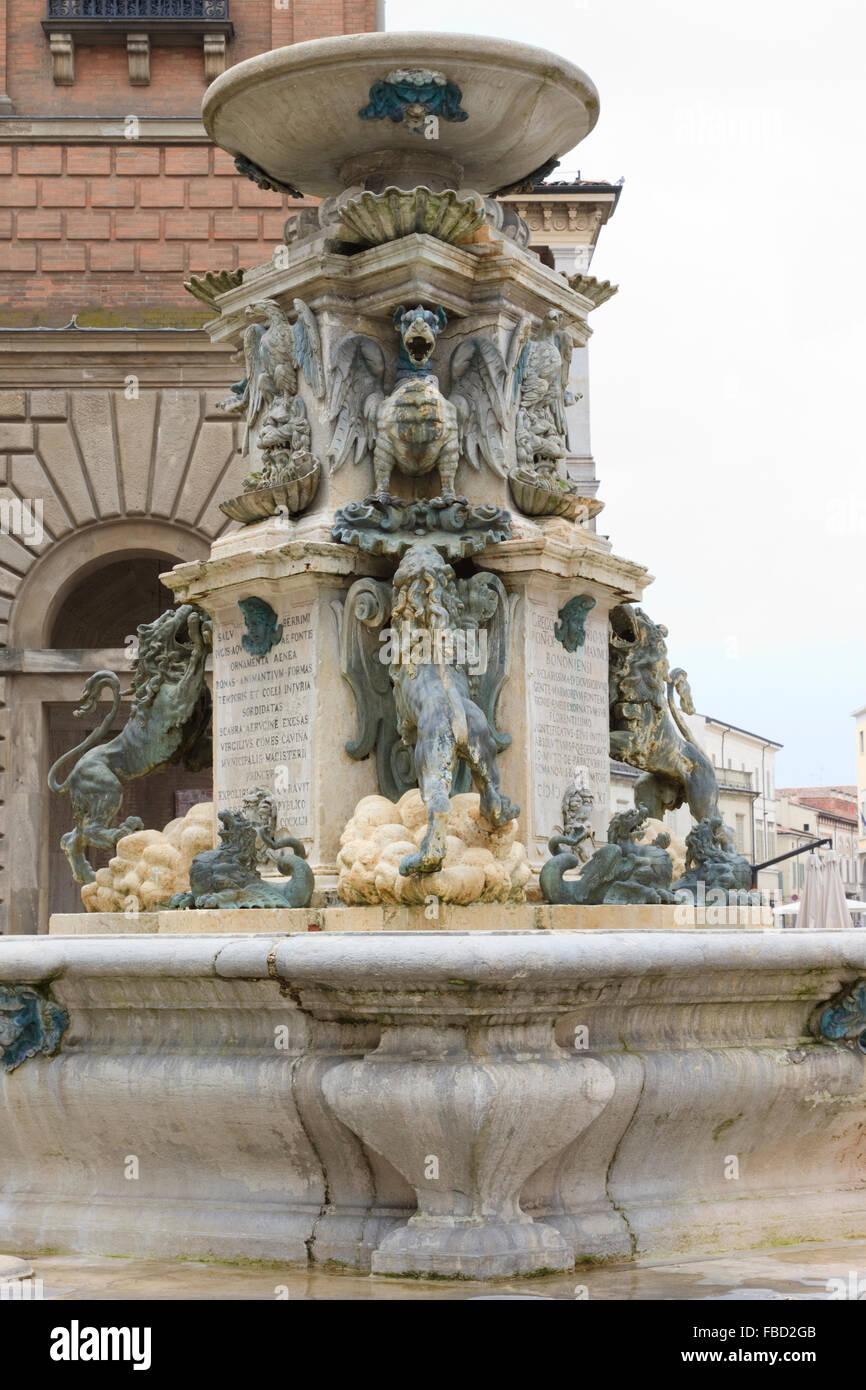 Fontana Di Piazza Della Liberta, Faenza, Italy - Stock Image