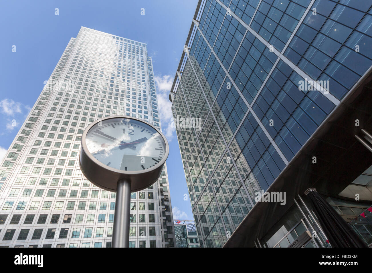 Skyscrapers at Canary Wharf, London, United Kingdom - Stock Image