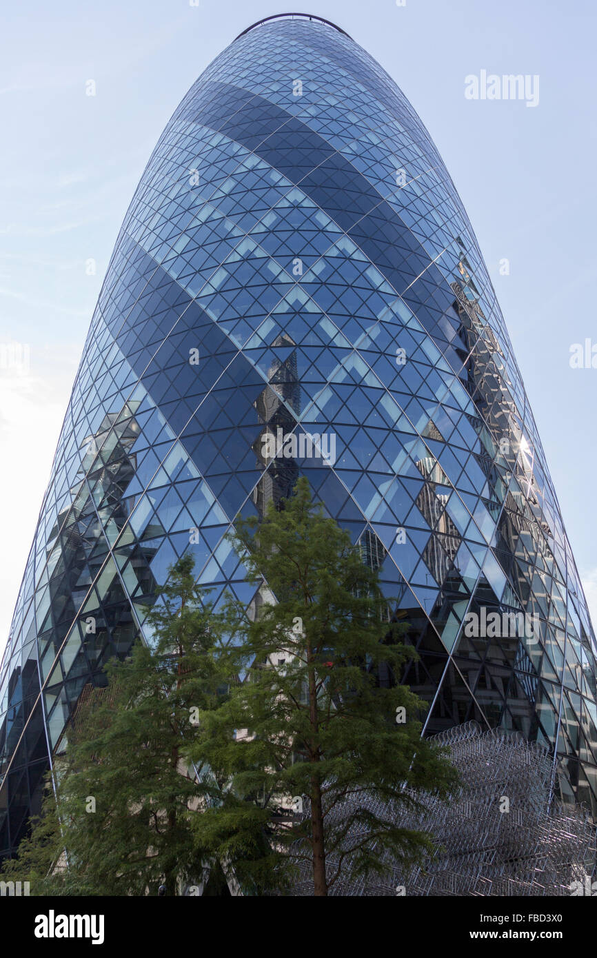 30 St Mary Axe, The Gherkin, London, United Kingdom - Stock Image