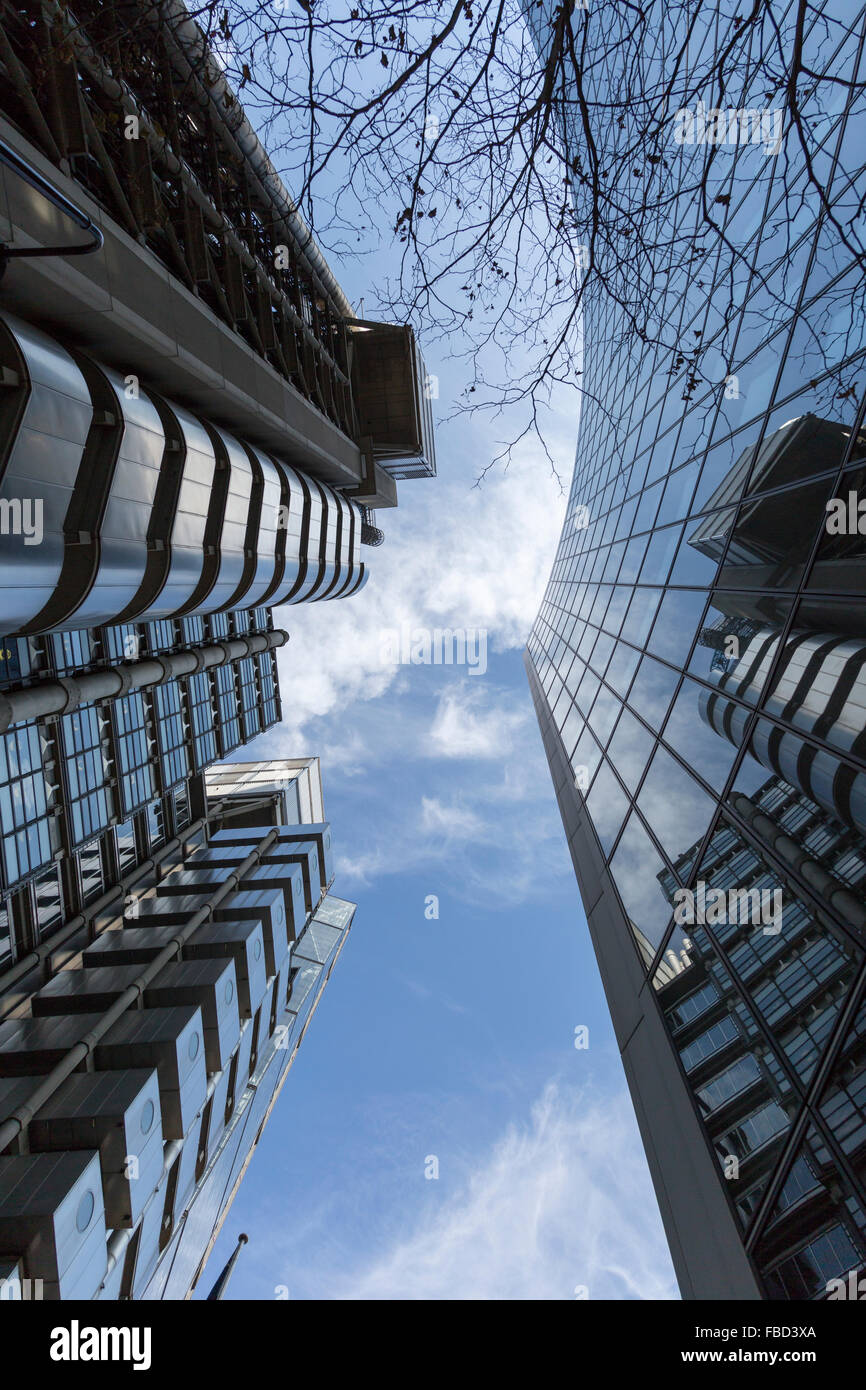 Skyscrapers of London, United Kingdom - Stock Image