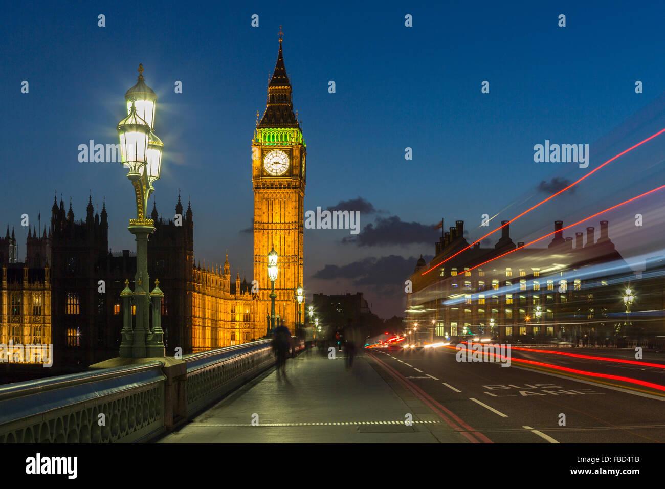 Elizabeth Tower, Big Ben, London, United Kingdom - Stock Image