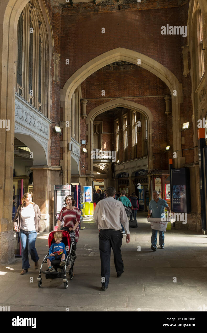 Interior of Bristol Temple Meads railway station, UK Stock Photo