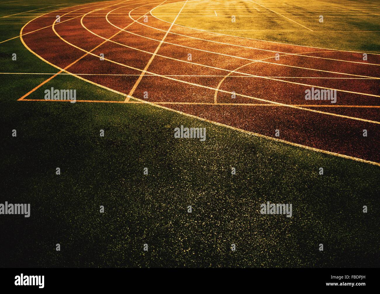 High Angle View Of Track And Field - Stock Image