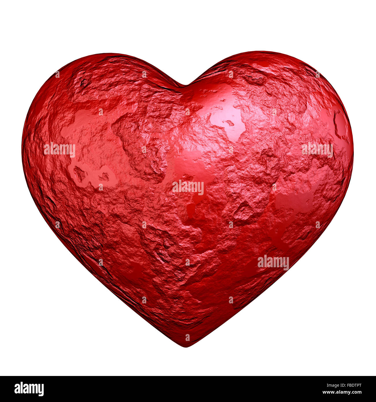 Red heart stone - Stock Image