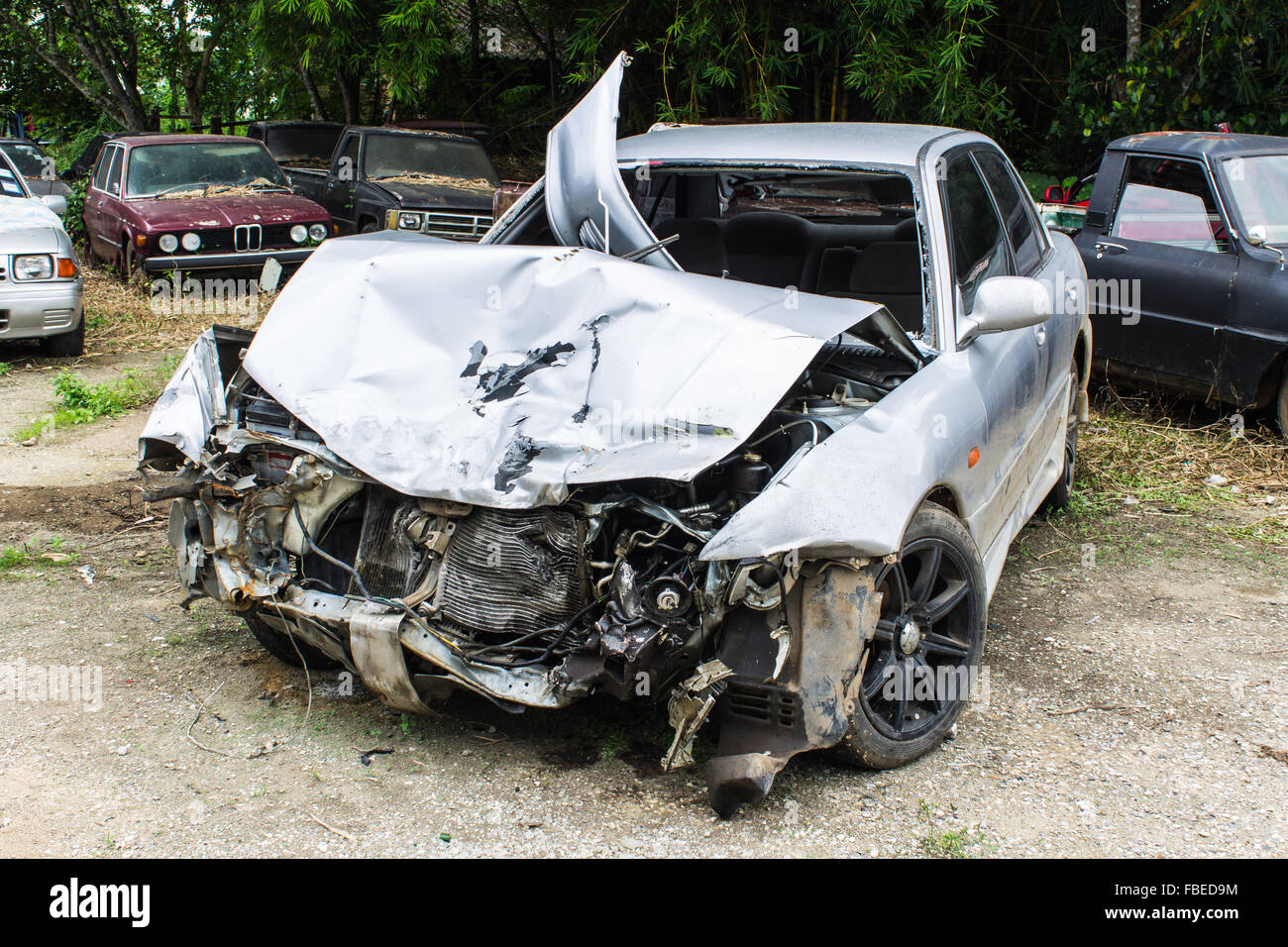 crashed cars Stock Photo: 93130848 - Alamy