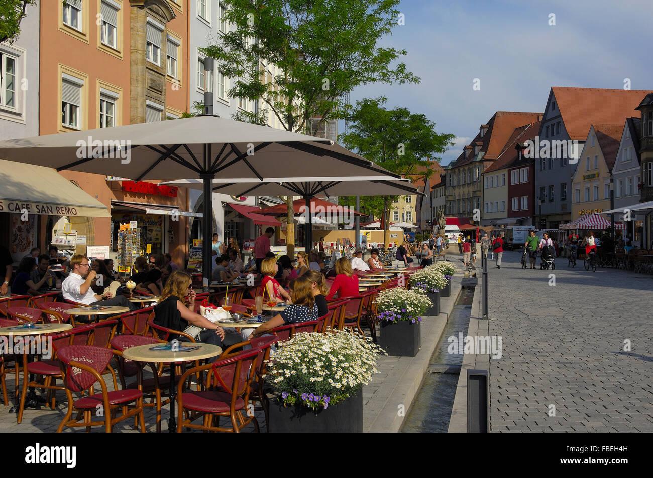 Bayreuth, Maximilian street, Upper Franconia, Franconia, Bavaria, Germany - Stock Image