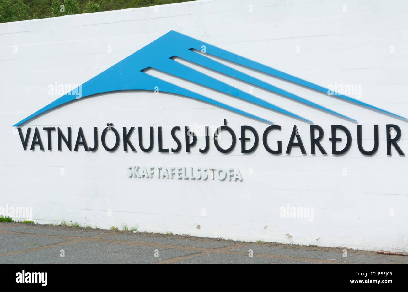 Iceland Vatnakulspjodardur signage - Stock Image