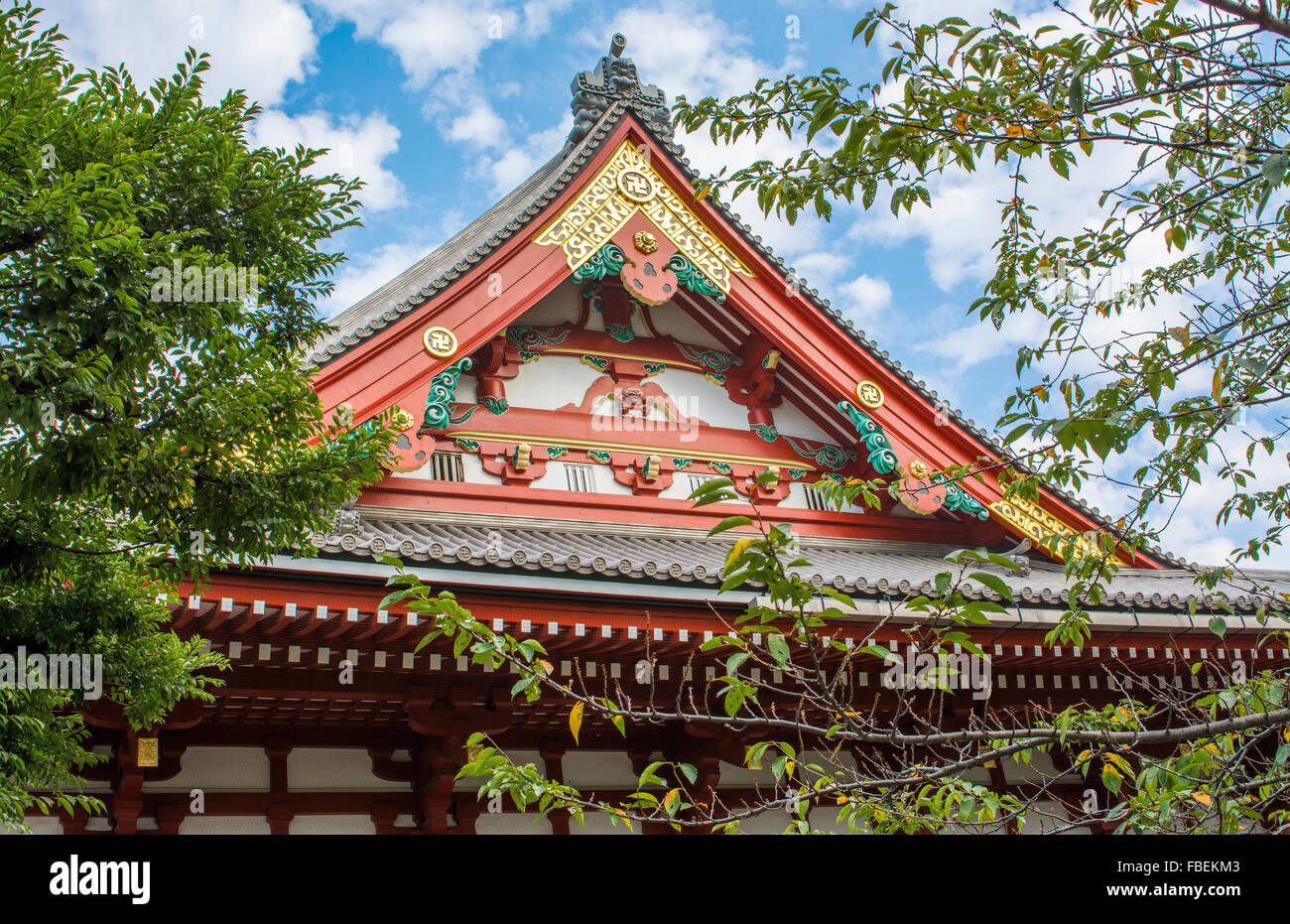Tokyo Japan Sensoji Temple at Tokyo's oldest temple and important built in 645 founded - Stock Image