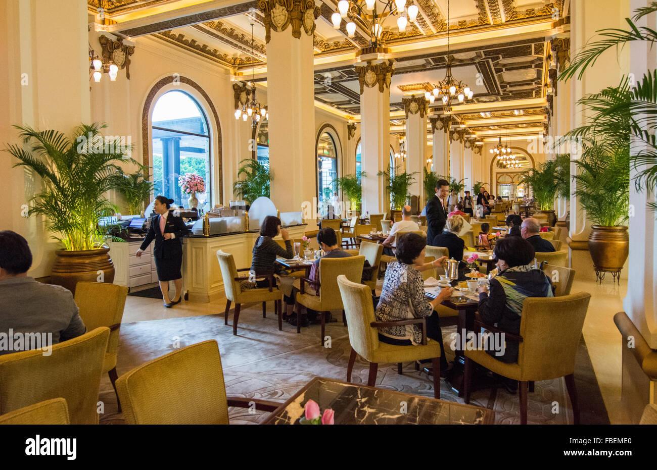 Hong Kong China Peninsula Hotel High Tea In Lobby Of